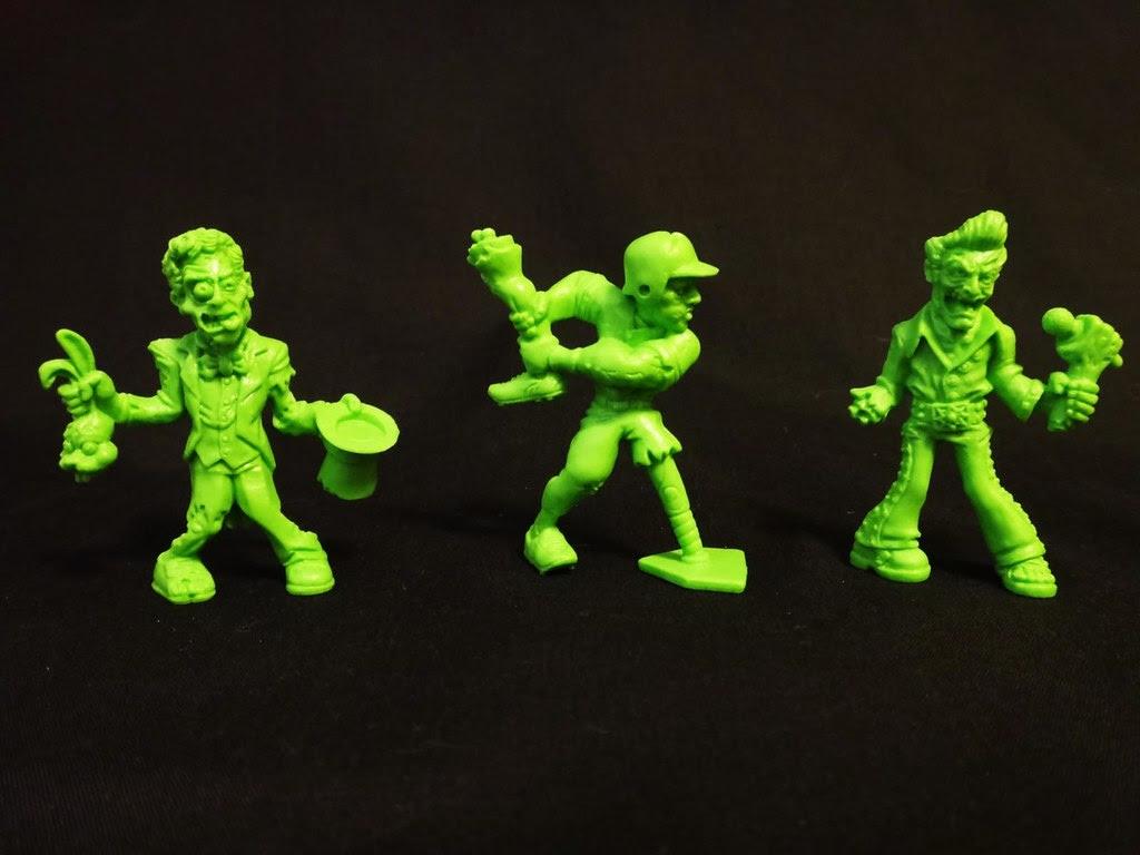 SLUG Zombies series 3Tragic Magic, Base-Hit Bones, Singer Mortis