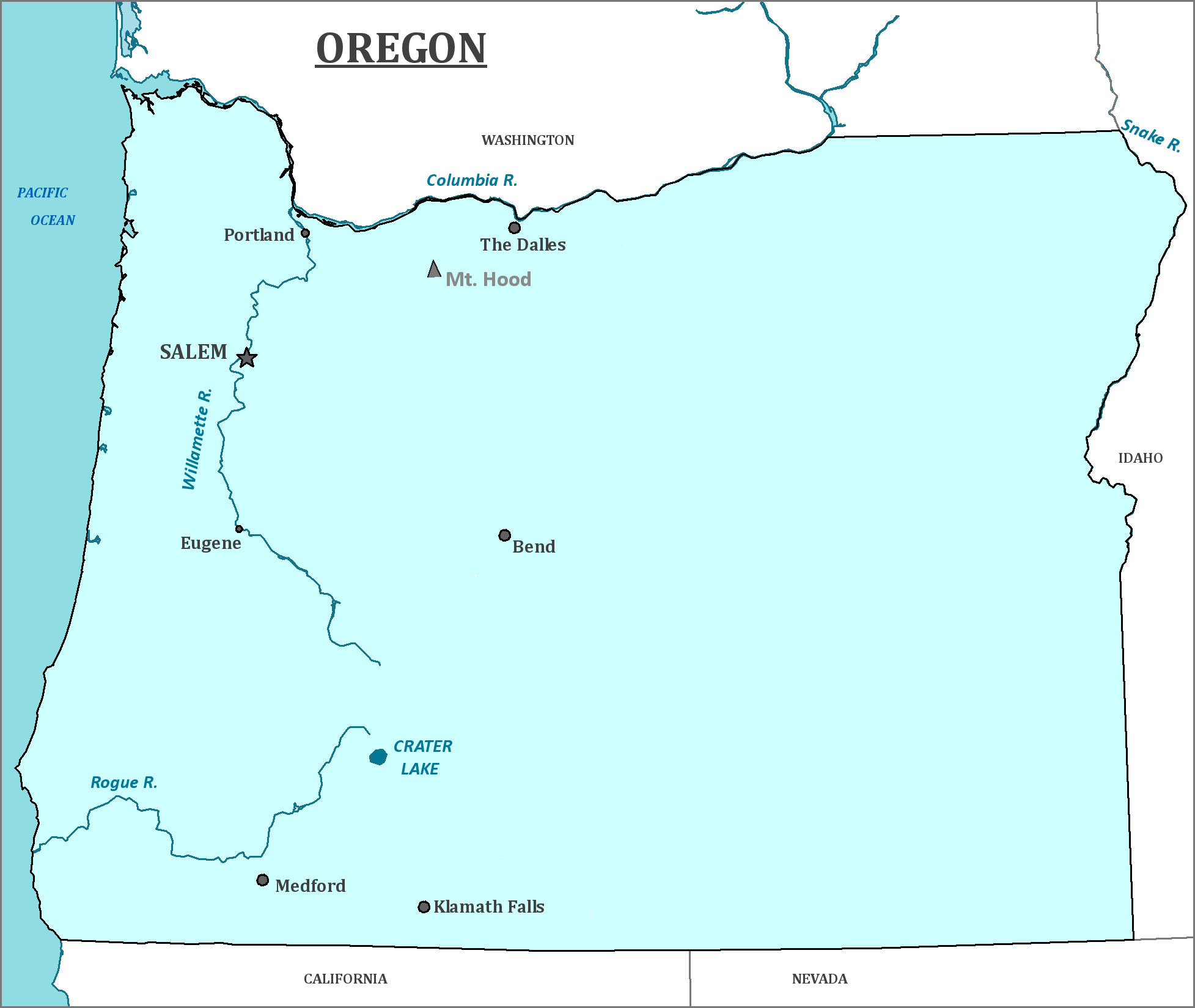 Oregon State Map Map Of Oregon And Information About The