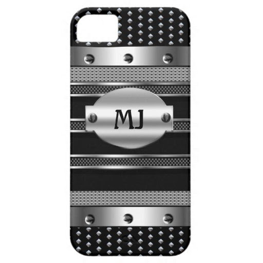 iPhone 5 Metal Studs look Chrome Mens iPhone 5 Covers