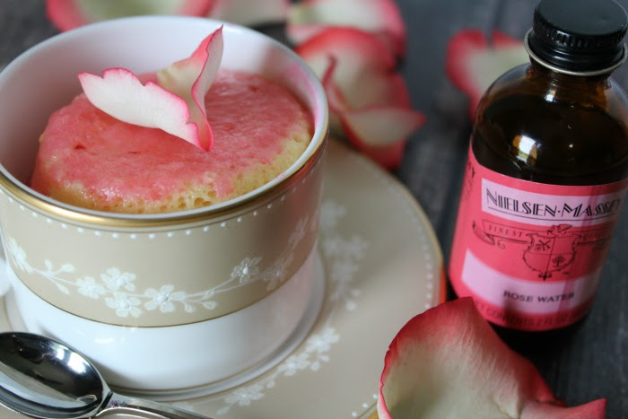 How to Make a Rose Water Mug Cake - Jen Around the World