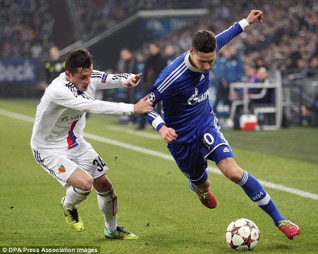 Main man: Draxler is expected to be converted to a striker by Arsene Wenger as he did with Thierry Henry