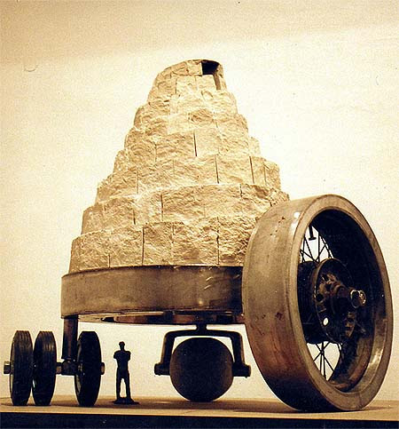 Aleš Veselý (1935-) szobra a český krumlovi Egon Schiele Művészeti Központban