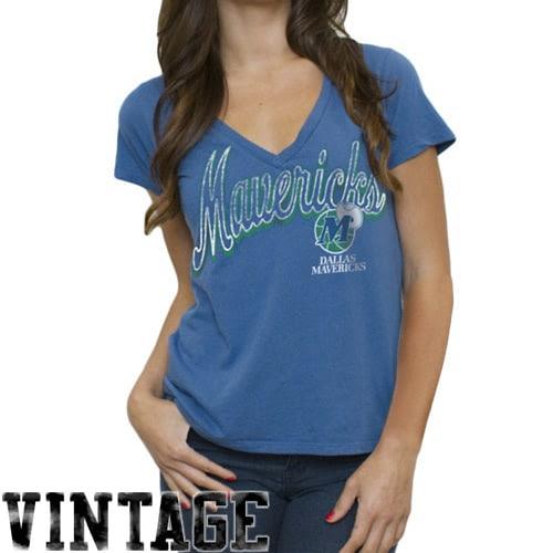 Dallas Mavericks Women's Solid Slim Fit V-Neck T-Shirt