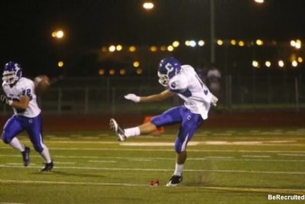Carson football kicker Austin Pacheco