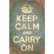 KEEP CALM & CARRY ON Poster Print