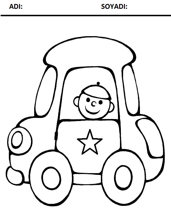 Taşıtlar Boyama Sayfası Arabulokucom