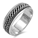 Men's Celtic Weave Spinner Wedding Ring New .925 Sterling