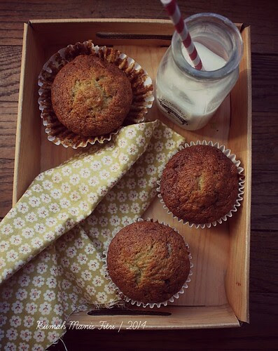 Banana Marzipan Muffin by Fitri D. // Rumah Manis