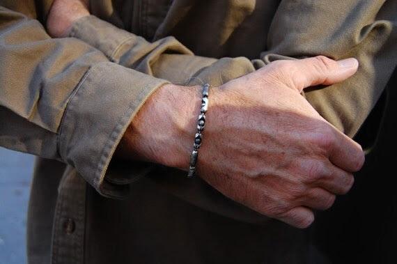 Superman, Men's Sterling Silver Bracelet, Mens Sterling Silver Cuff, Men's Bracelet, Women's Bracelet