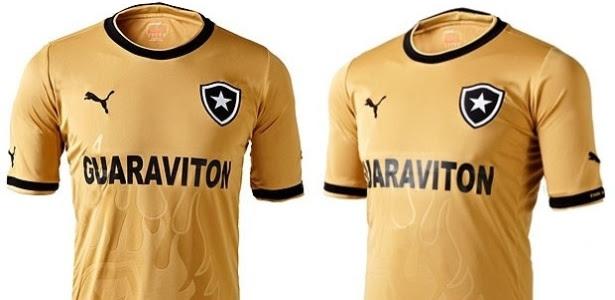 Após camisa rosa, Botafogo volta a inovar e lança uniforme todo em dourado