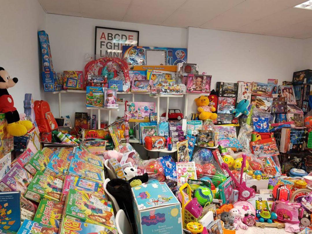 Imagen de archivo de una recogida de juguetes.