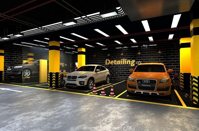 Interior Car Detailing Shop Design