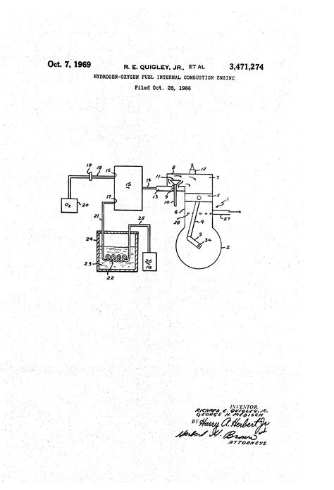 Patent US3471274 - Hydrogen-oxygen fuel internal