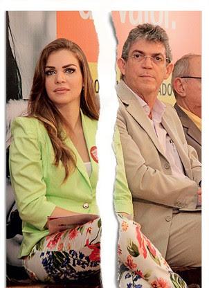Resultado de imagem para O governador paraíba Ricardo Coutinho sua ex-esposa Pâmela Bório