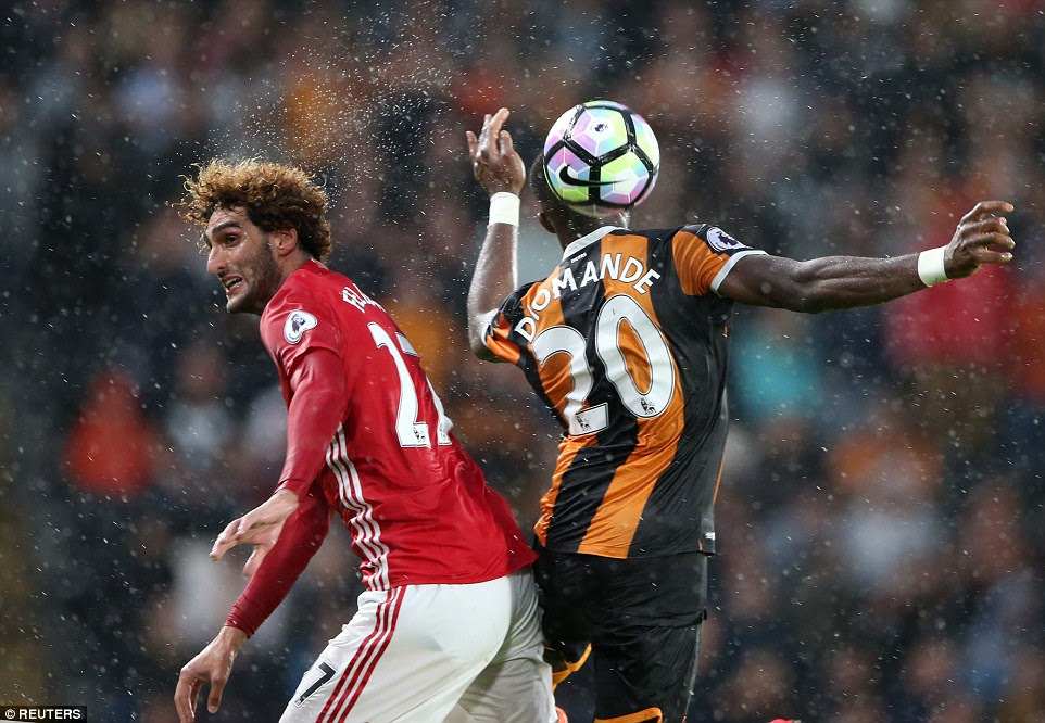 MidfielderFellaini endeared himself to United fans with his actions at theKCOM Stadium