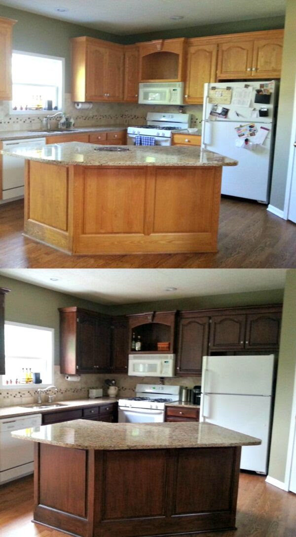 How To Gel Stain Cabinets | MyCoffeepot.Org