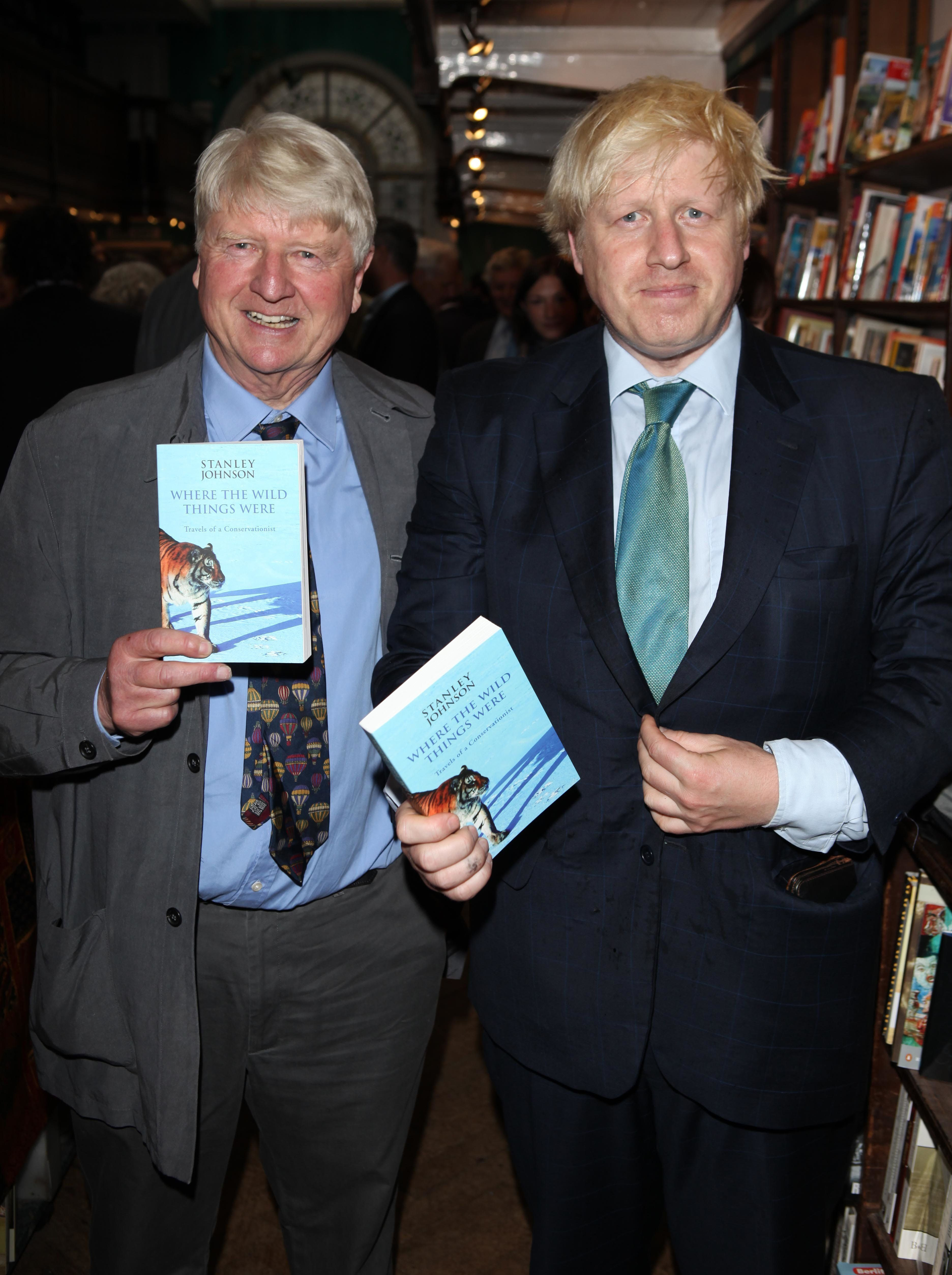 <strong>Stanley with son Boris</strong>