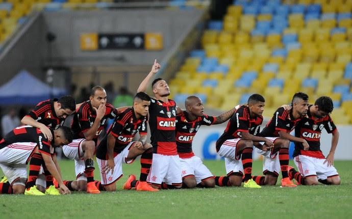 Jogadores do Flamengo x Coritiba (Foto: André Durão / Globoesporte.com)