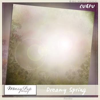 Dreamy Spring Freebie PU&CU