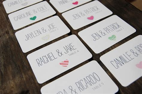 25 Creative Wedding Escort Card Designs   Hongkiat