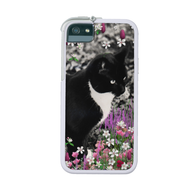 Freckles in Flowers II, Tuxedo Kitty Cat iPhone 5/5S Cover