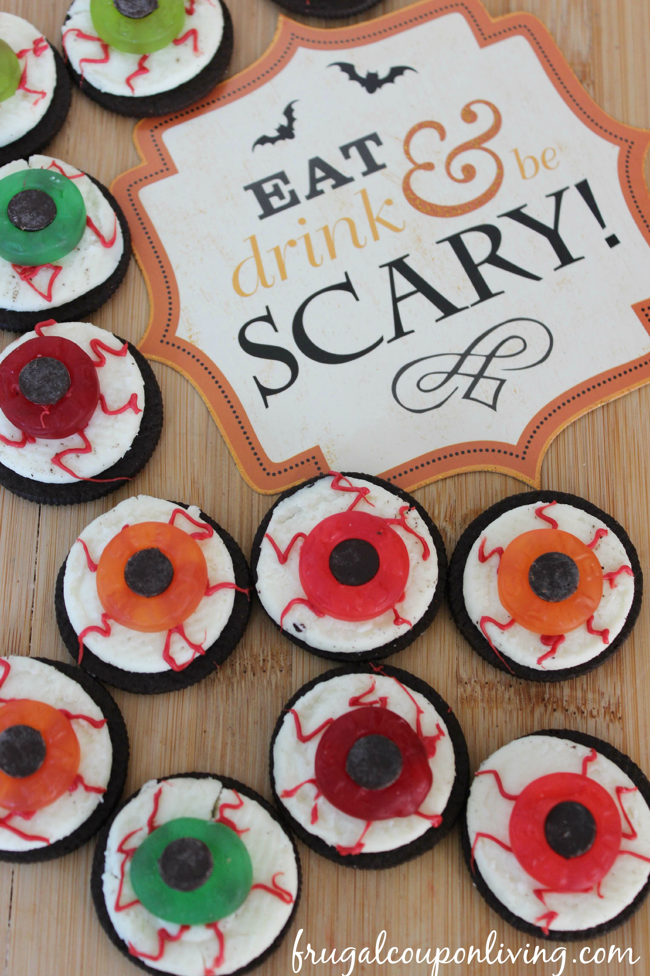 Halloween OREO Eyeballs - Kids Food Craft