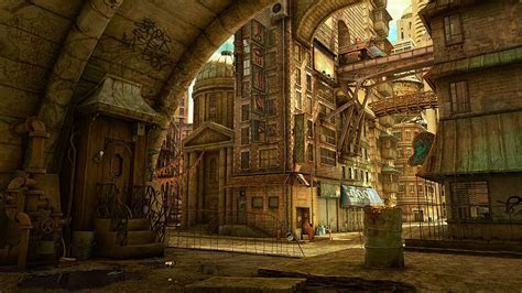 Tekkon Kinkreet, City, Steampunk Wallpapers HD / Desktop