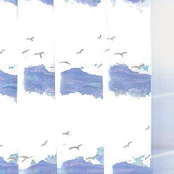Seaside Shower Curtain from Vita Futura - tropical - shower ...