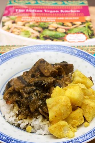 creamy mushroom curry + curried potatoes