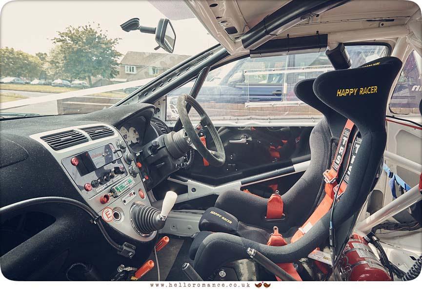 Paul Dumbill Honda Civic Rally car used as wedding car in Suffolk - www.helloromance.co.uk