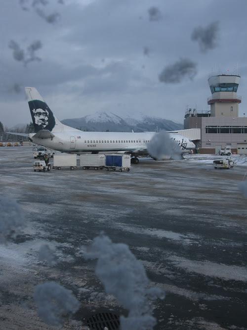 from jet window, Juneau Airport, Juneau, Alaska