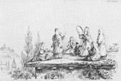 Пляска грузинок на плоской кровле. 1837 г.)