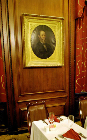 Portrait of Harvey Parker in Parker's Restaurant at the Omni Parker House