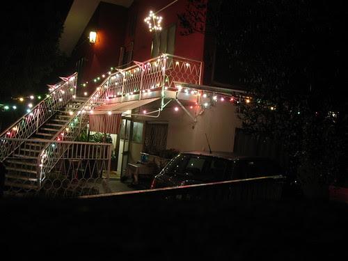 luminarie, Festa, notte, casa