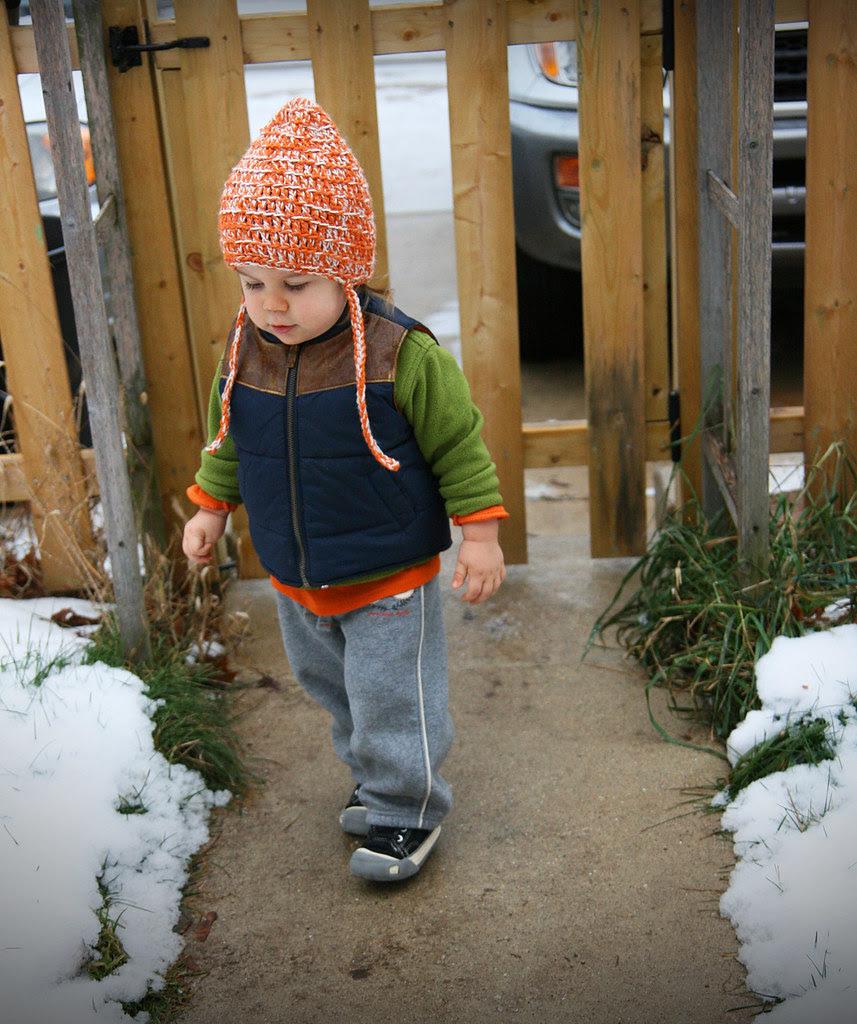 boy leaving sidewalk