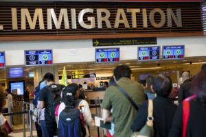 Immigration place in Singapore South East of Asia