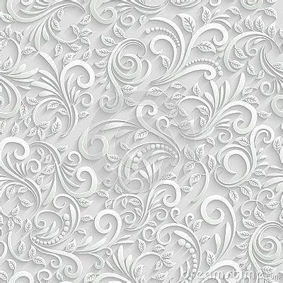 Floral 3d Seamless Background Stock Vector   Image: 47505105