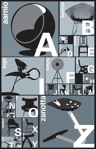 Design Blog Sociale Blue Art Studio A Z Nero Poster