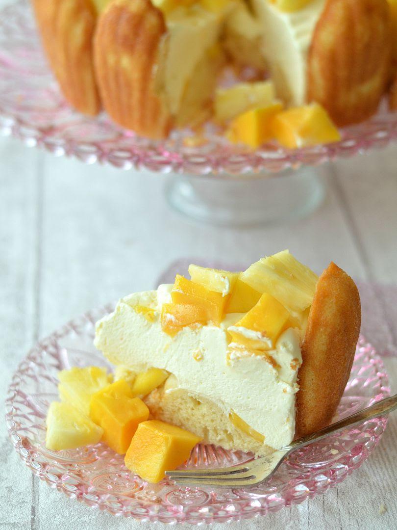 Mango & Pineapple Charlotte Cake