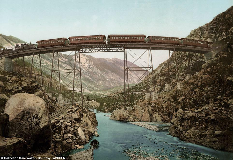 Talentos da engenharia: The Loop Gerogetown sobre Clear Creek Canyon, no Colorado foi extremamente importante para as minas de ouro e prata próximas no início do século 20