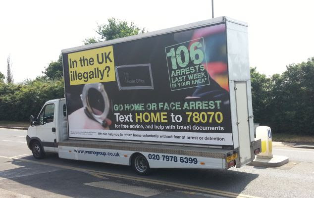 Controversy: The Home Office's 'Go Home' vans were not offensive but were misleading, the advertising watchdog said