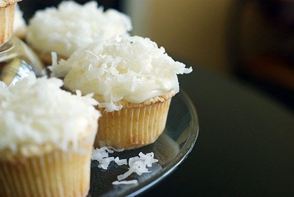 Key Lime-filled Coconut Cupcakes ... these are SO amazing.
