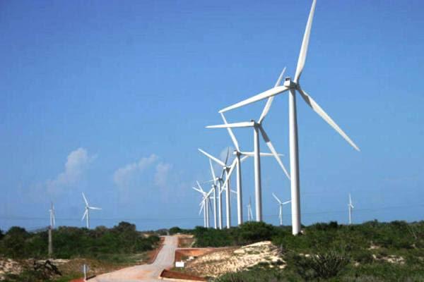 Parque Eólico instalado na Serra de Santana.