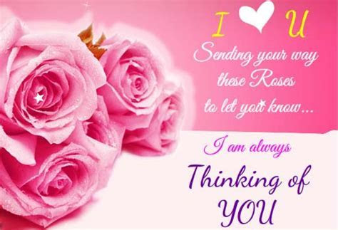 I Am Always Thinking About U. Free Rose Month eCards