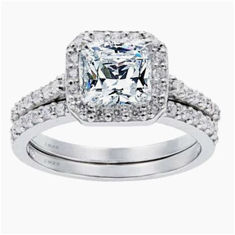 Women?s 1.8 CTW Princess Cut 925 Sterling Silver CZ