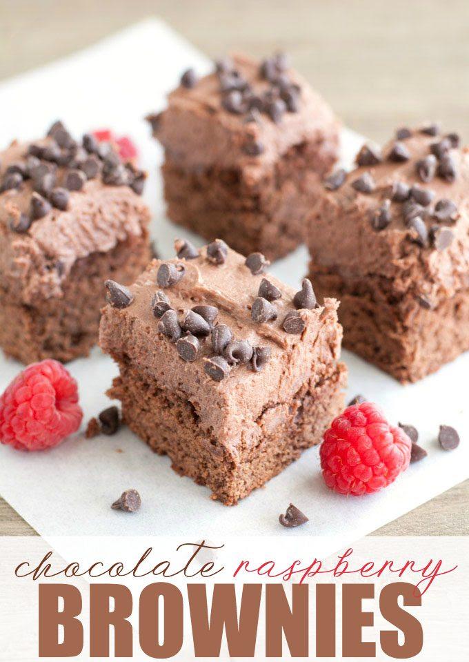 Chocolate Raspberry Brownies by Simply Stacie