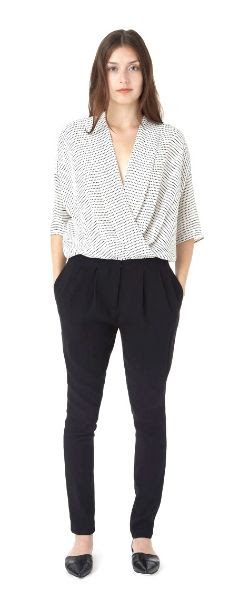 Apiece Apart Paola Gathered Wrap Top