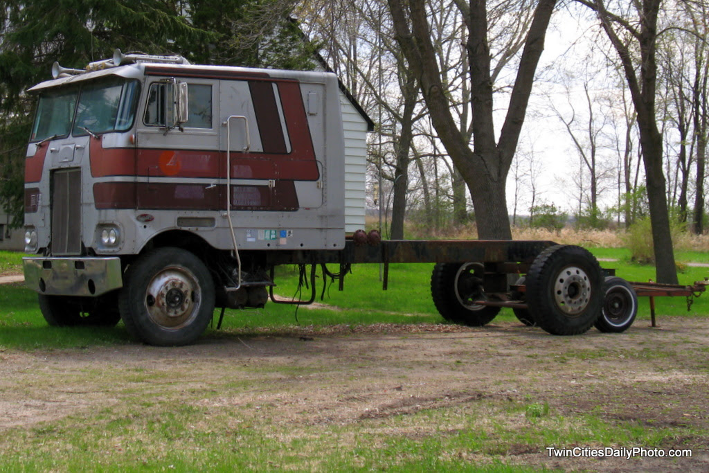 I found this creative semi cab on a very unbeaten path in Cottage Grove.