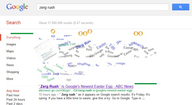 'Zerg Rush' easter egg eats your Google search results ...