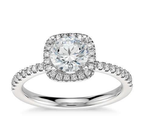 Arietta Halo Diamond Engagement Ring in Platinum (1/5 ct